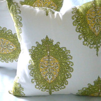 "Designer Pillow Cover - Westminster leaf - ""20x20"" pillow cover"