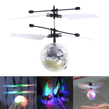 Colorful Induction Suspension Crystal Ball Children Feixiang Toy Wrestling Night Pearl Sensor Aircraft