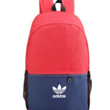 Unisex Color Blocking Adidas Print Backpack Laptop Bag School Bag