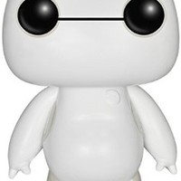 Funko- Disney Big Hero 6 Nurse Baymax, 6 Inch, Glow POP!