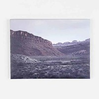 Troy Moth Desert Edge Stretched Canvas Print- Tan One