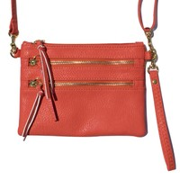"""Lucy"" Vegan Leather Crossbody Clutch Hippie Purse"