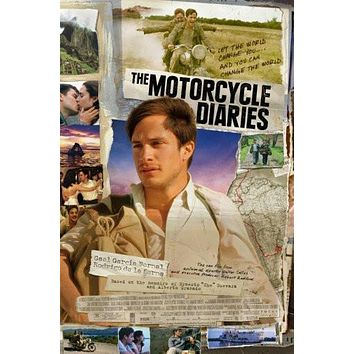 motorcycle diaries poster Metal Sign Wall Art 8in x 12in