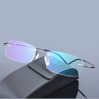 2016 new brand ultra-light titanium glasses frame men rack rimless eyeglasses frame women glasses myopia picture frame oculos