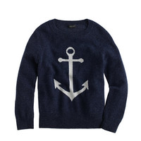 Italian Cashmere Anchor Sweater In Larger Sizes