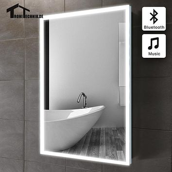 60x80cm bath mirror in bathroom Bluetooth ILLUMINATED LED piegel badkamer GLASS MIRROR Bathroom mirror Wall IP44 E102B 90-240v