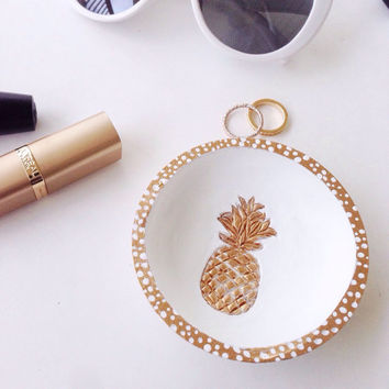 Pineapple Ring Dish/Gold Pineapple