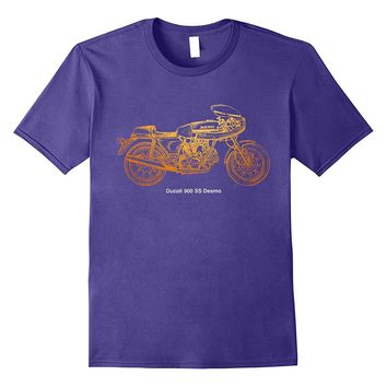Vintage Classic Motorcycle 900 SS Desmo Shirt Automotive Tee