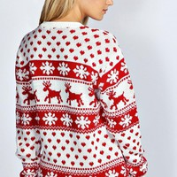 Hollie Reindeer & Snowflake Christmas Jumper