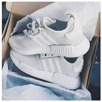 ADIDAS NMD Fashion Casual Shoes for Men and Women I grey