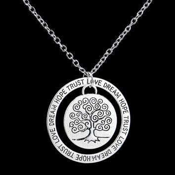Charm Silver Tree of Life ~ Pendant Necklace  Family Tree 04