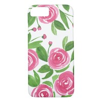 Sweet Roses - Watercolor Flowers iPhone 7 Case