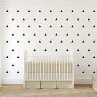 Triangles pattern wall decal. 1,2 or 3 colors. Nursery Wall Decal. Wall Sticker.