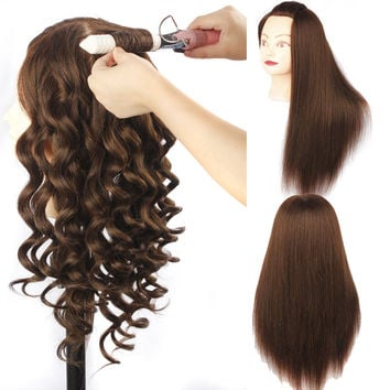 Natural Animal Hair and Synthetic Hair Mannequin Head Training Mannequin Head for Hairdressers Cheap Mannequin Head with Hair