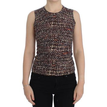 Dolce & Gabbana Multicolor knitted wool tank top