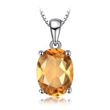 Jewelry Palace Women's Natural Amethyst Citrine Garnet Peridot Sky Blue Topaz Pendant Necklace 925 Sterling Silver 18""