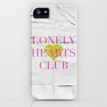 Lonely Hearts Club iPhone & iPod Case by Justified