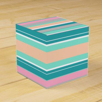 Stylish Pastel Lines Stripes Gift Favor Paper Box
