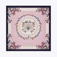Tory Burch Meadow Folly Silk Square Scarf