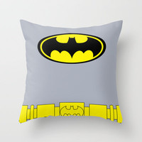 Batman Grey Body Throw Pillow by Adrian Mentus | Society6