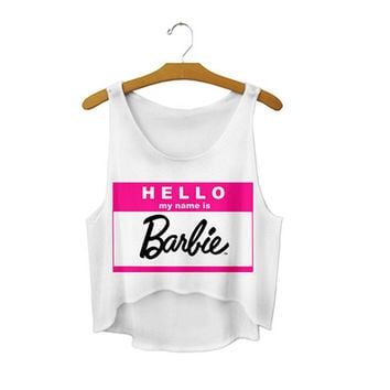 Women's Loose Cute Sexy Girl Cropped Letters Sports  Summer Harajuku Camisole Youth Tank Top Crop Top