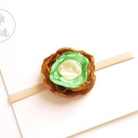 Fall Baby Headband, newborn Headband, Light Green Flower Baby girl Headband, Headband, Baby Headbands, Infant Headband, Baby Flower girll