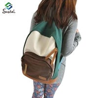 Fashion Backpack Women Canvas Rucksack School Bags for Teenagers Girls School Backpack sustal Women Backpack