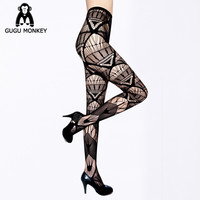 2016 Hot Fashion Women Sexy Black Fishnet Pattern Jacquard Calcetines Leg Warmers Stockings Pantyhose Tights 12 Style /sw001