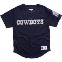 Dallas Cowboys Mesh Button Front Jersey Navy