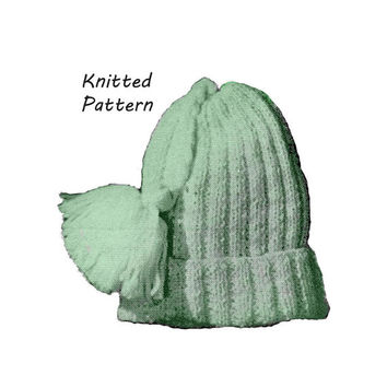 Baby Simple Ribbed Hat Knitting Pattern || Vintage 1960's ||Reproduction PDF Instant Download 6026-60