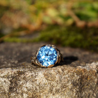 Nouveau Strellman Tanzanite Gold Ring