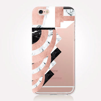 Transparent Marble Art Deco iPhone Case - Transparent Case - Clear Case - Transparent iPhone 6 - Transparent iPhone 5 - Transparent iPhone 4