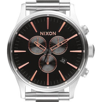 NIXON Sentry Chrono Gray/Rose Gold