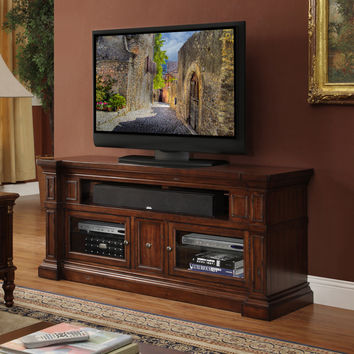 Berkshire 62 Inch Entertainment Cabinet TV Stand Distressed Umber