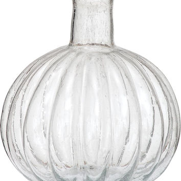 Recycled Glass Vase (ribbed design)