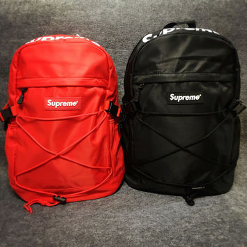 The New Supreme Printed Backpack School Bag In 4  Colors