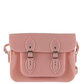 Satchel Messenger Bag in Blush
