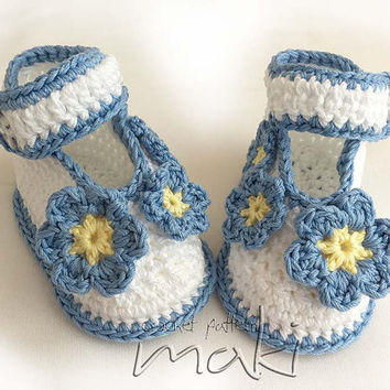 Crochet pattern baby booties ballerina - Forget Me Not - Perfect for special occasion. Permission to sell finished items. Pattern No. 110