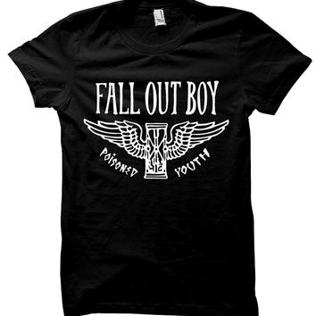 Fall Out Boy Poisoned Youth Hourglass T-Shirt - Black - Large