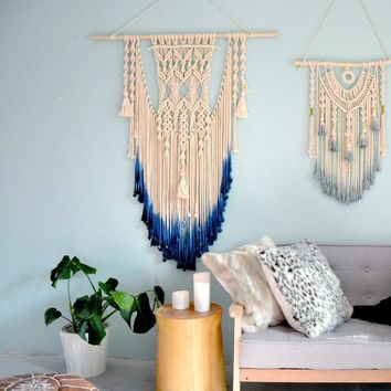 Hand Woven Tapestry  Hanging Wall Decor Home Furnishing Dyeing Wall Mandala Tapestry Decorative Wall Tapestries Tenture Murale