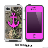 The Real Camouflage and Pink Anchor V2 Skin for the iPhone 4-4s or 5 LifeProof Case