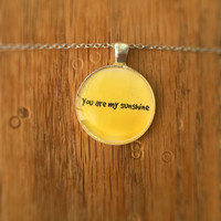 You Are My Sunshine Necklace (Free Shipping To USA)