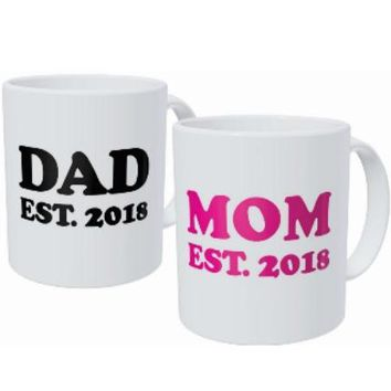 New Parents To Be Mom and Dad Mug Cup Set