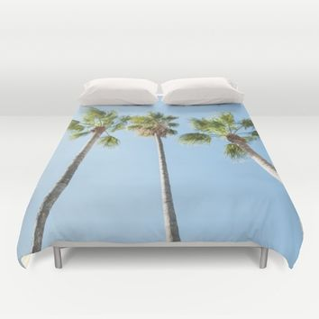 Palm trees Duvet Cover by Xiari_photo
