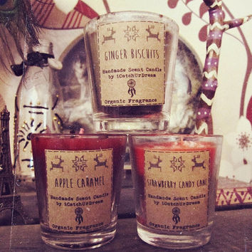 Boho Christmas Candles Set - Essential Oil Scented Candles - Gypsy Christmas - Home Fragrance Aromatherapy - Bohemian Decor - In Stock
