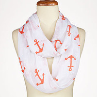 Coral Anchor Infinity Scarf | Shop by Category| Mother's Day | World Market