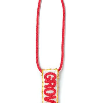 Walter Van Beirendonck beaded 'Growl' necklace