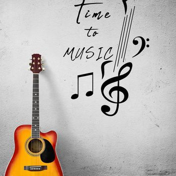 Wall Decal Music Notes Inscription Melody Song Vinyl Sticker (ed1281)
