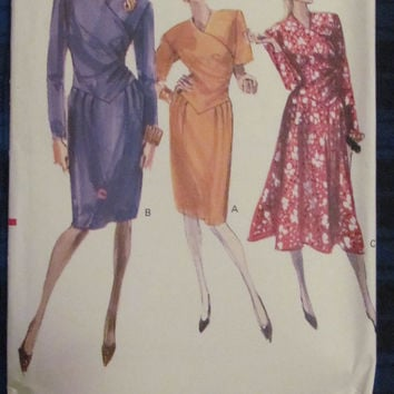 Uncut 1980's Vogue Sewing Pattern, 7344! Size 6-8-10, Small/Medium Misses/Women's, Couture Dress/Summer/Spring, Long/Short Sleeves
