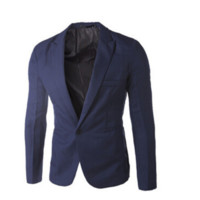 Fashion Blazer Men New Arrival Autumn Clothing Candy Colors Blazer